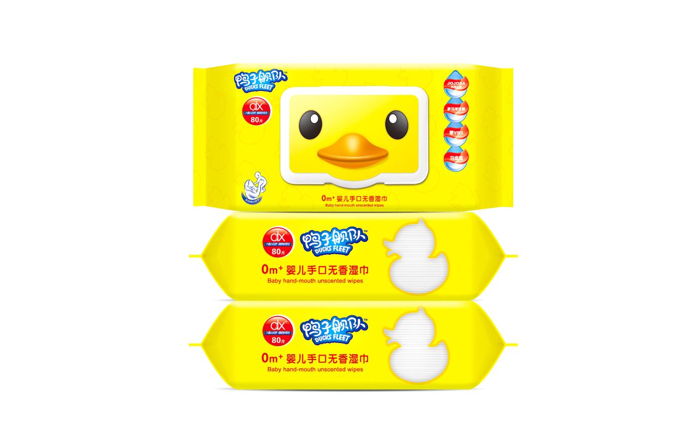 鸭子舰队婴儿湿巾包装系列设计图2