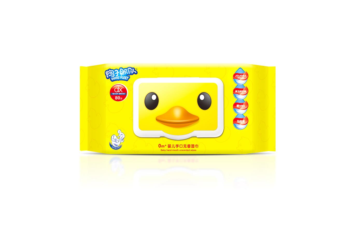 鸭子舰队婴儿湿巾包装系列设计图1