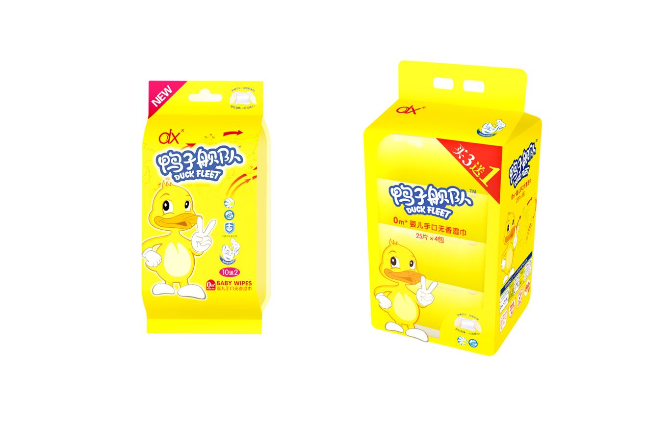 鸭子舰队婴儿湿巾包装系列设计图4
