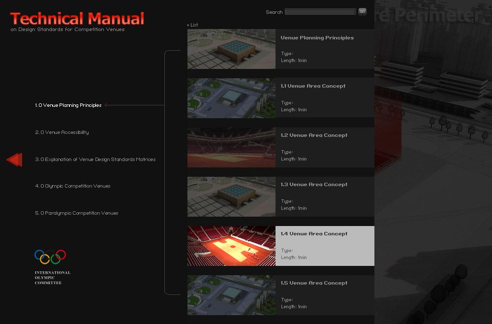 国际奥组委做的flash多媒体交互视频光盘图1