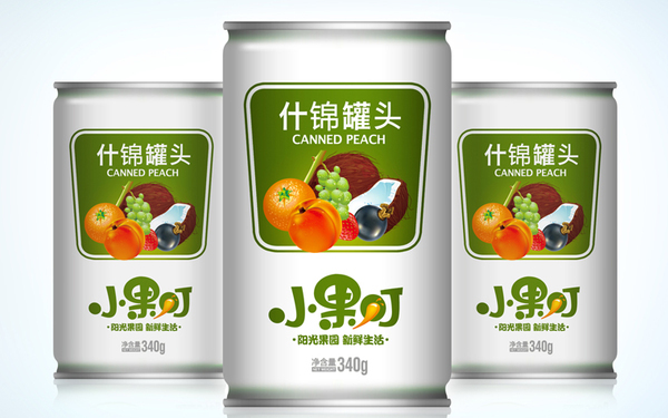 小果叮饮料包装设计、Logo设计、VIS设计
