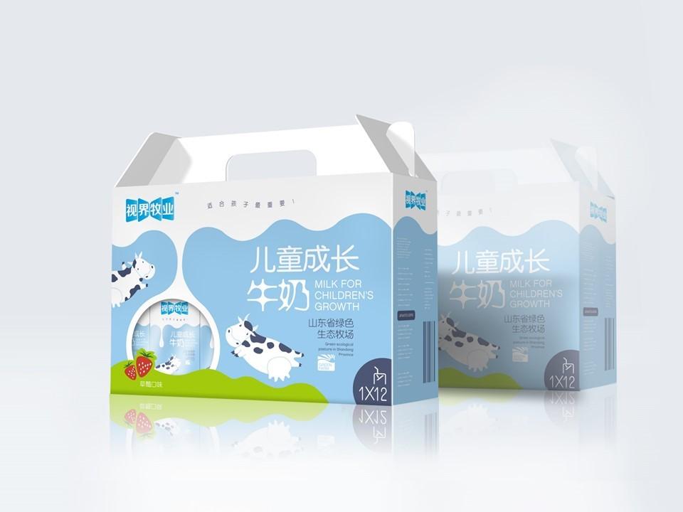 东君乳业—儿童奶包装盒设计图14