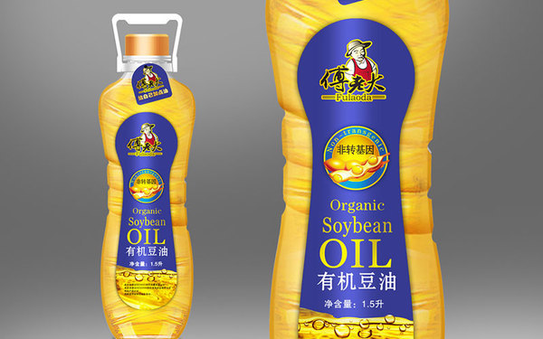 傅老大大豆油品牌包装设计