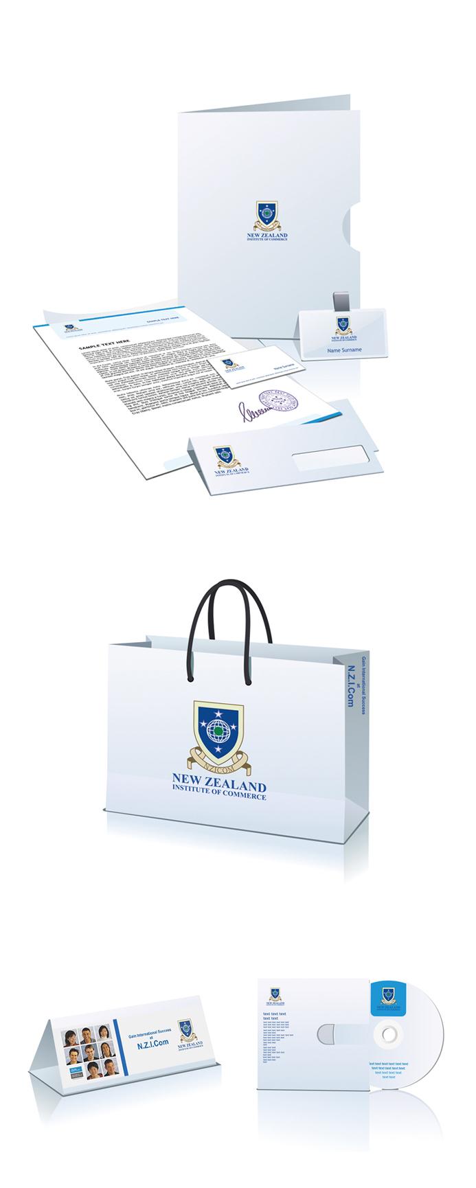 新西兰商务学院 VI图0