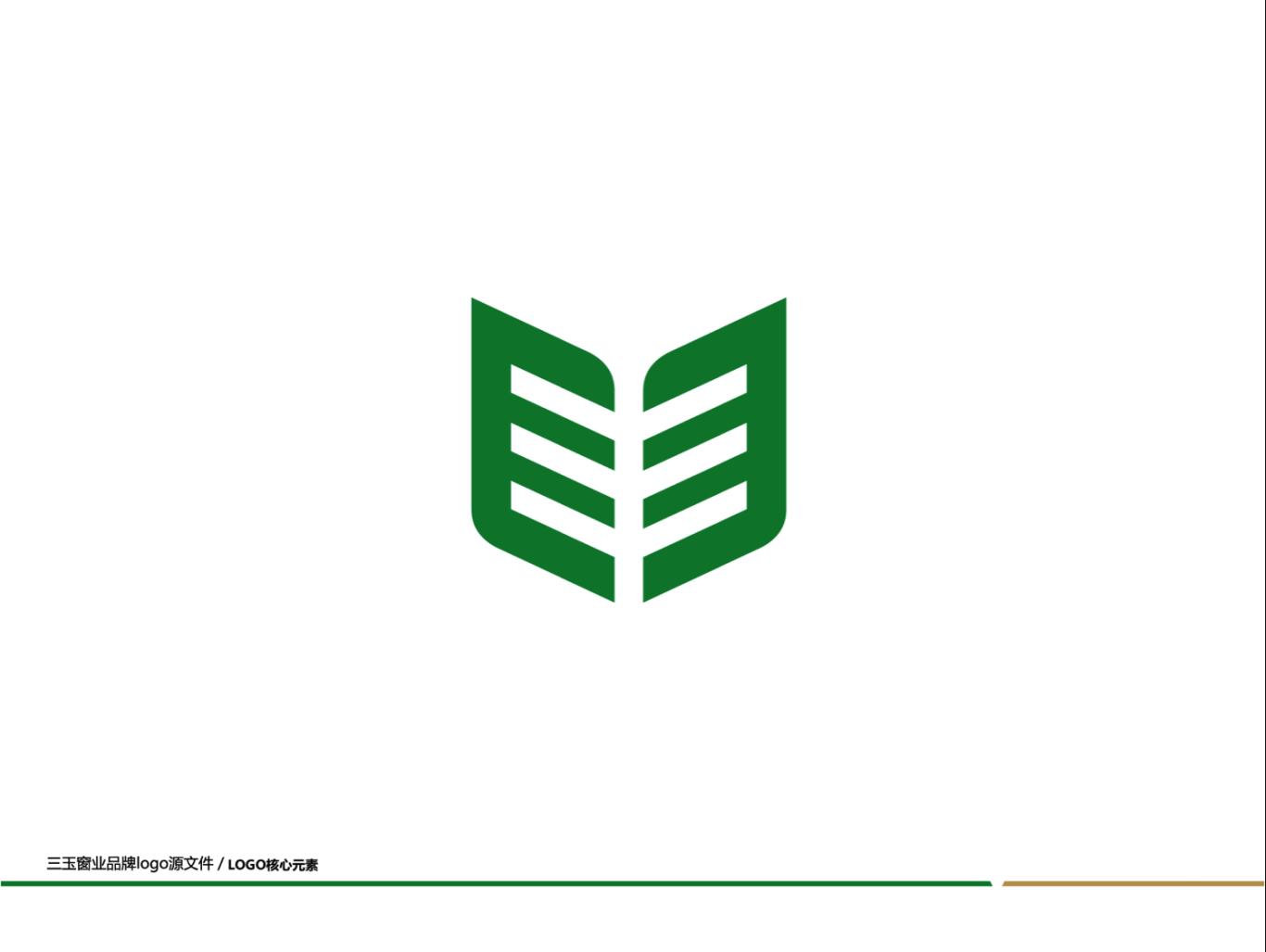 三玉窗业 品牌logo设计图0