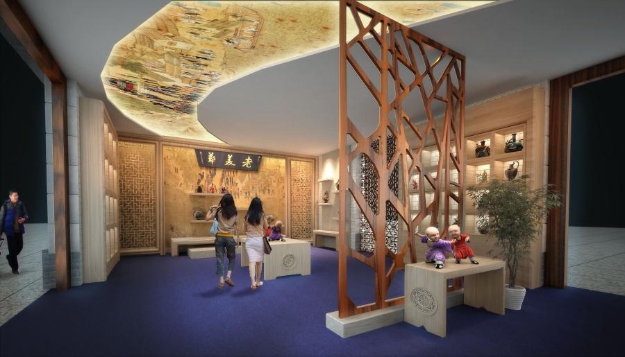 天津机场天津印象展厅设计图3