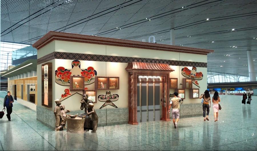 天津机场天津印象展厅设计图2