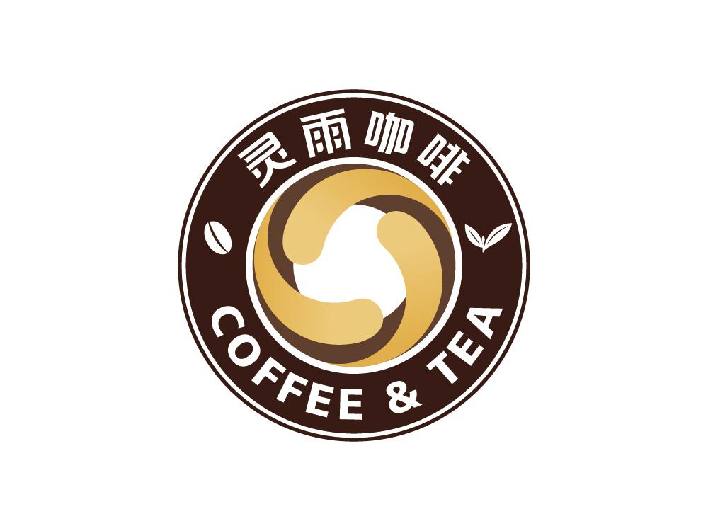 标志设计—蓝山灵雨咖啡品牌形象图0