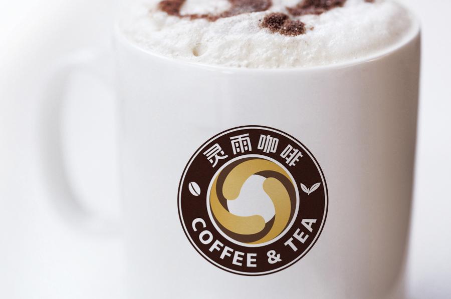 标志设计—蓝山灵雨咖啡品牌形象图3