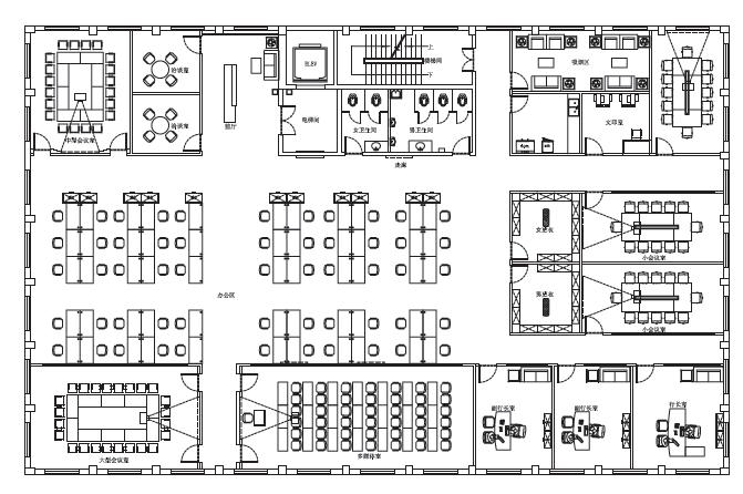 烟台银行营业网点及行政办公空间的空间识别系统图0