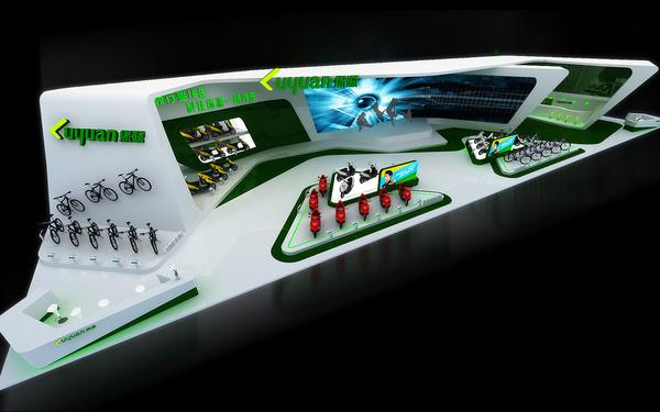 绿源--2014年天津自行车博览会设计制作方案