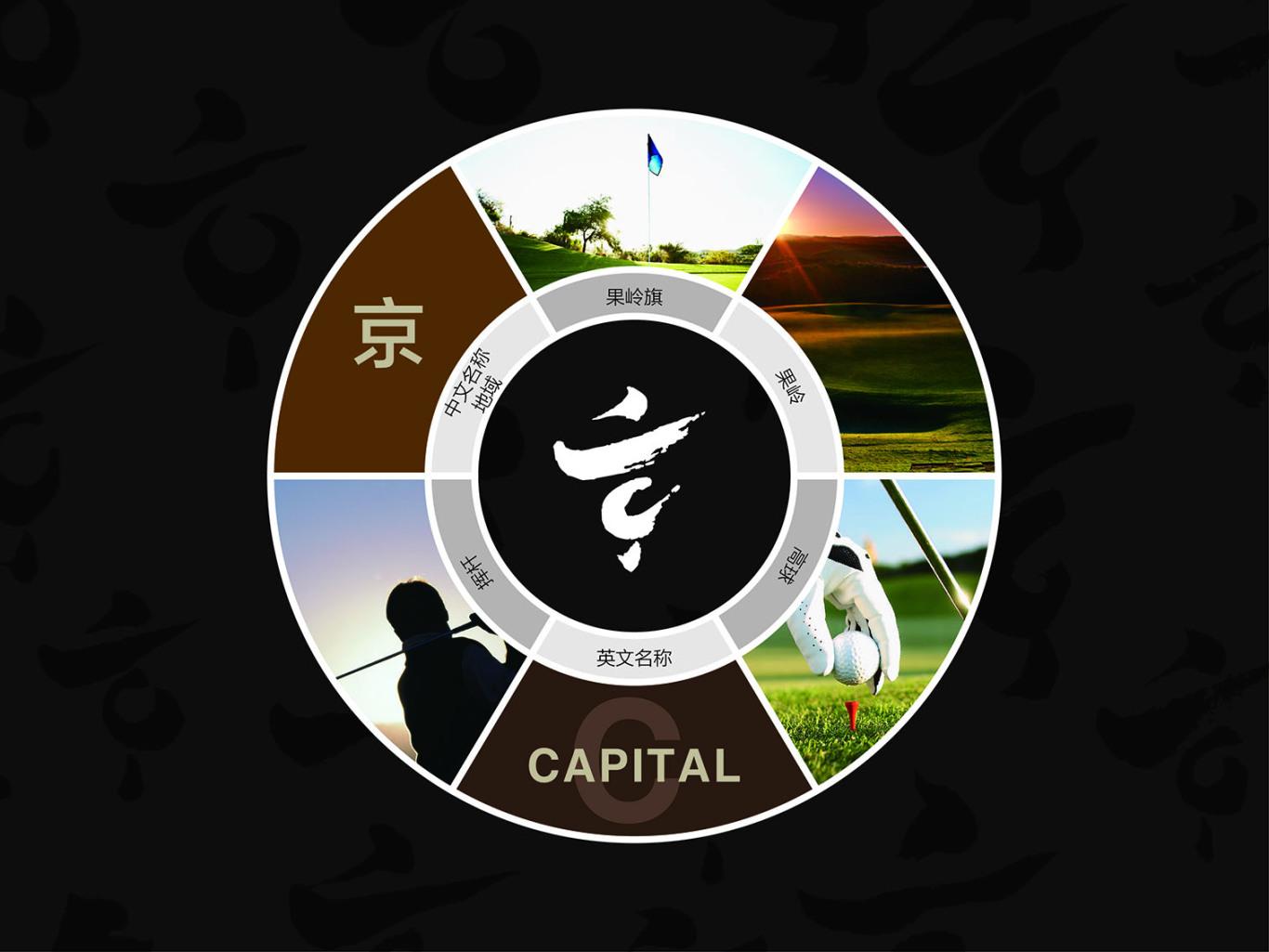 北京大兴京城高尔夫俱乐部LOGO设计图2