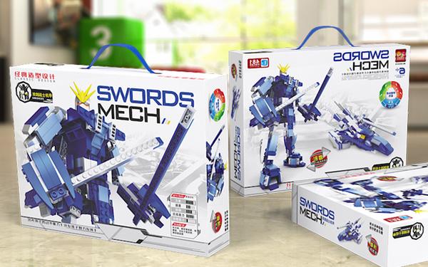 奇优比玩具 玩具包装设计 3D模型渲染 积木玩具包装设计