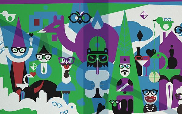 时尚眼镜六一活动海报