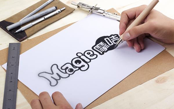 摩咭标志设计