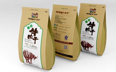 内蒙古牛吖牛肉干包装设计  食品包装设...
