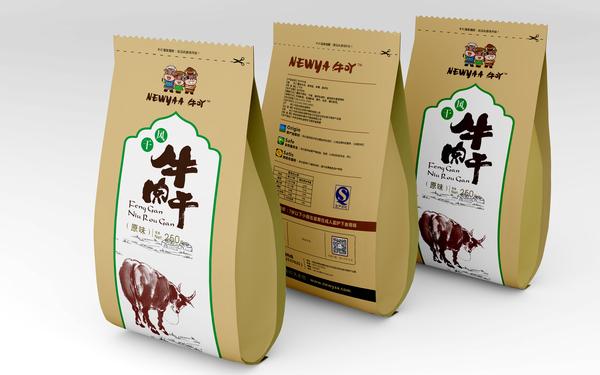 内蒙古牛吖牛肉干包装设计  食品包装设计