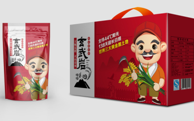 大米系列包装与卡通吉祥物