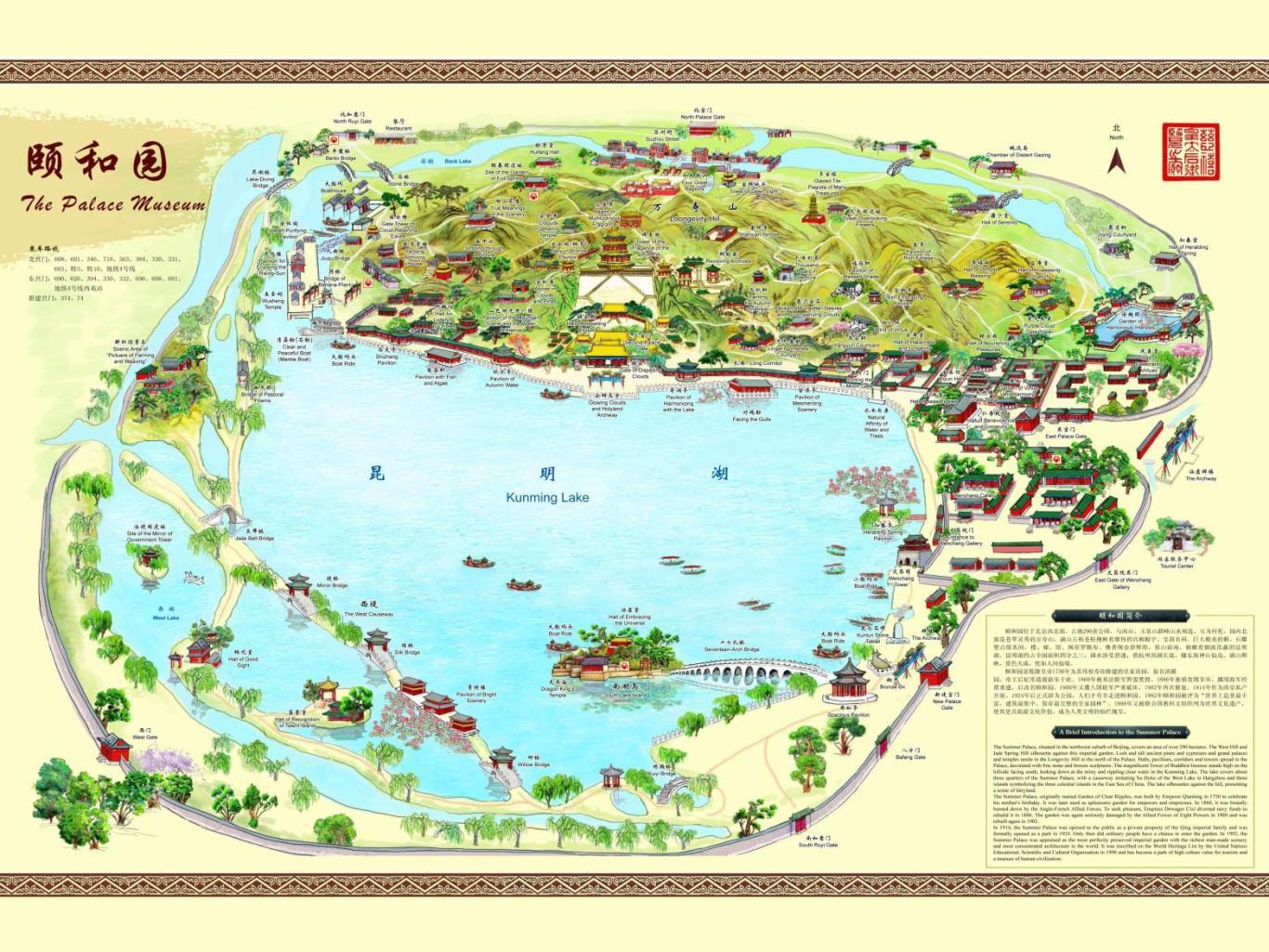 颐和园手绘地图