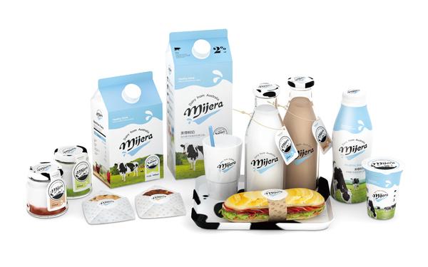 美尊鲜奶包装设计