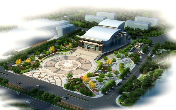 萧山歌剧院广场绿化方案设计