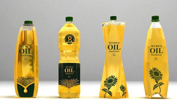 谋品牌食用油瓶型设计