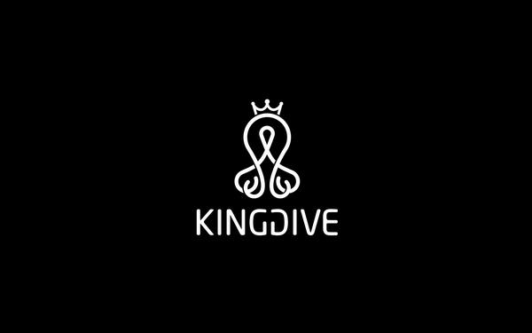 KINGDIVE静潜潜水行业平台LogoVIS设计