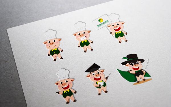 雏鹰农牧集团卡通形象猪