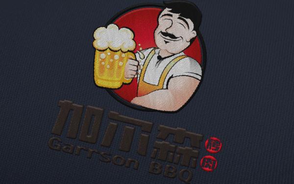 加尔森烤肉标志设计