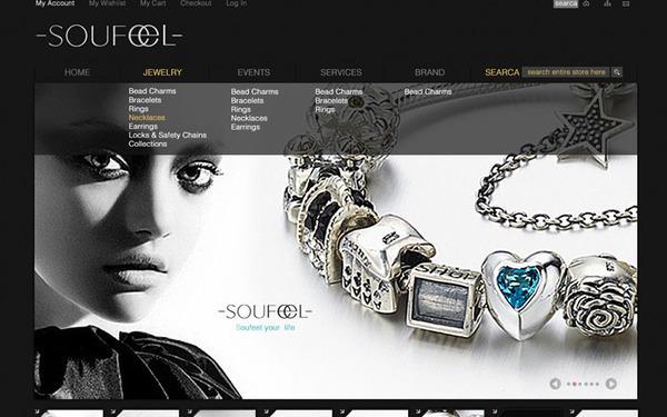 SOUFEEL首饰品牌官网设计——在唐设计