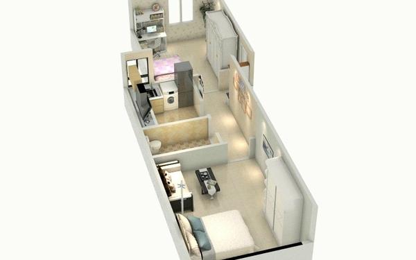 45平小户型两室一厅简洁设计
