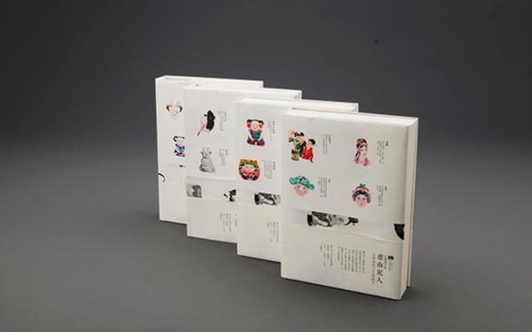 惠山泥人主题系列手绘笔记本设计