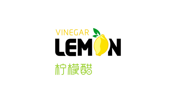LEMON VINEGAR 字体logo设计