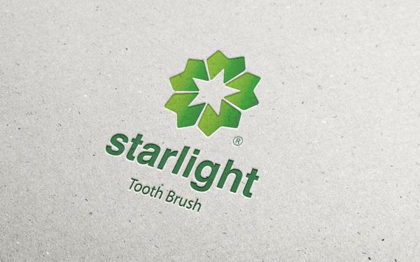 Starlight牙刷生产商Logo设计