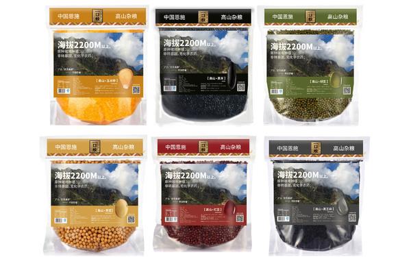 一口糧五谷雜糧系列食品包裝設計