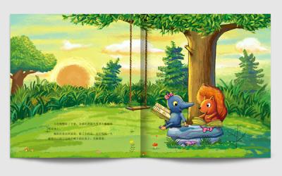 6+1儿童教育形象插画设计