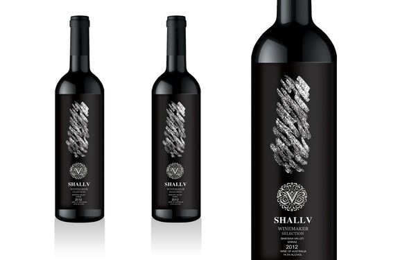 shallv红酒包装瓶贴设计!