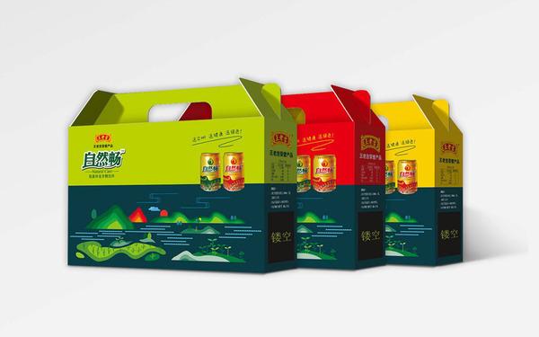 王老吉旗下品牌自然畅礼盒包装设计
