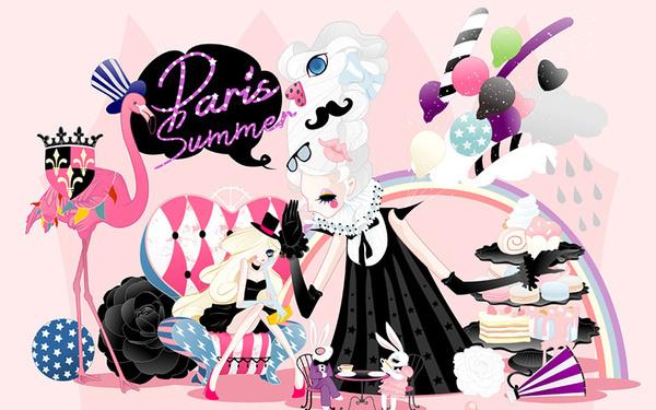 巴黎少女-奇幻的品牌视觉设计