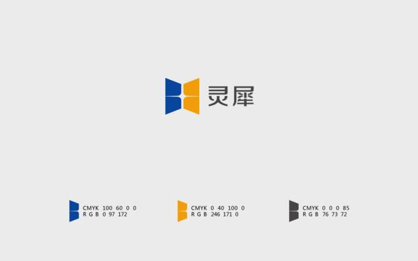 灵犀BIM建筑模型系统logo-VIS设计