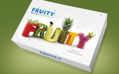 fruity品牌的水果包装设计