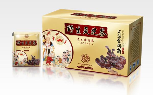 野生灵芝茶包装纸盒