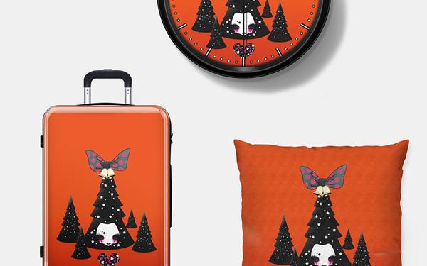 圣誕主題插畫與產品設計