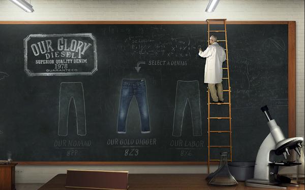 牛仔裤网站设计