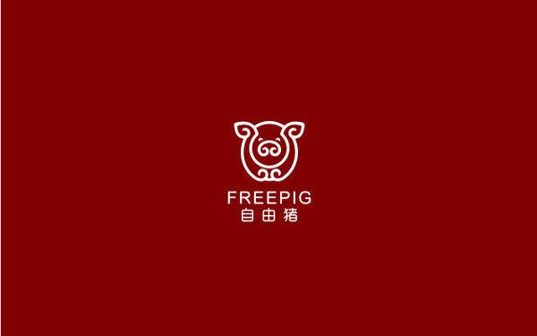 自由猪LOGO设计