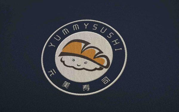 元美寿司餐厅品牌形象logo设计