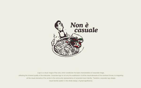 Non è casuale披萨 logo设计