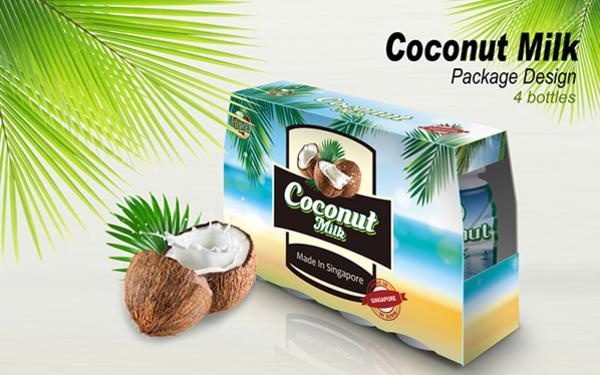 進口椰汁飲料包裝設計