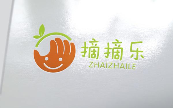 摘摘乐logo设计