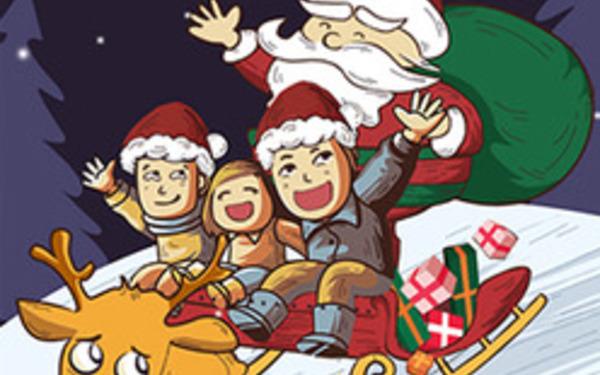 汽车品牌贺卡-圣诞节送祝福